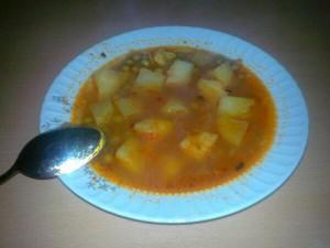 patatesli bezelye yemeği